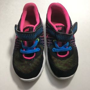Pink and Black Girls Nike Size 7C